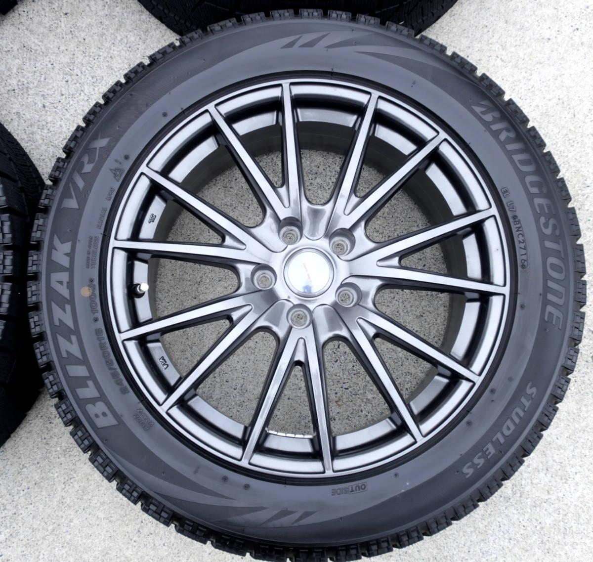 VELVA 軽量ホイル+BLIZZAK VRX 245/50R18 スタッドレス タイヤ 4本 アルファード ヴェルファイア エルグランド フーガ ハリアー CR-V CH-R_画像3