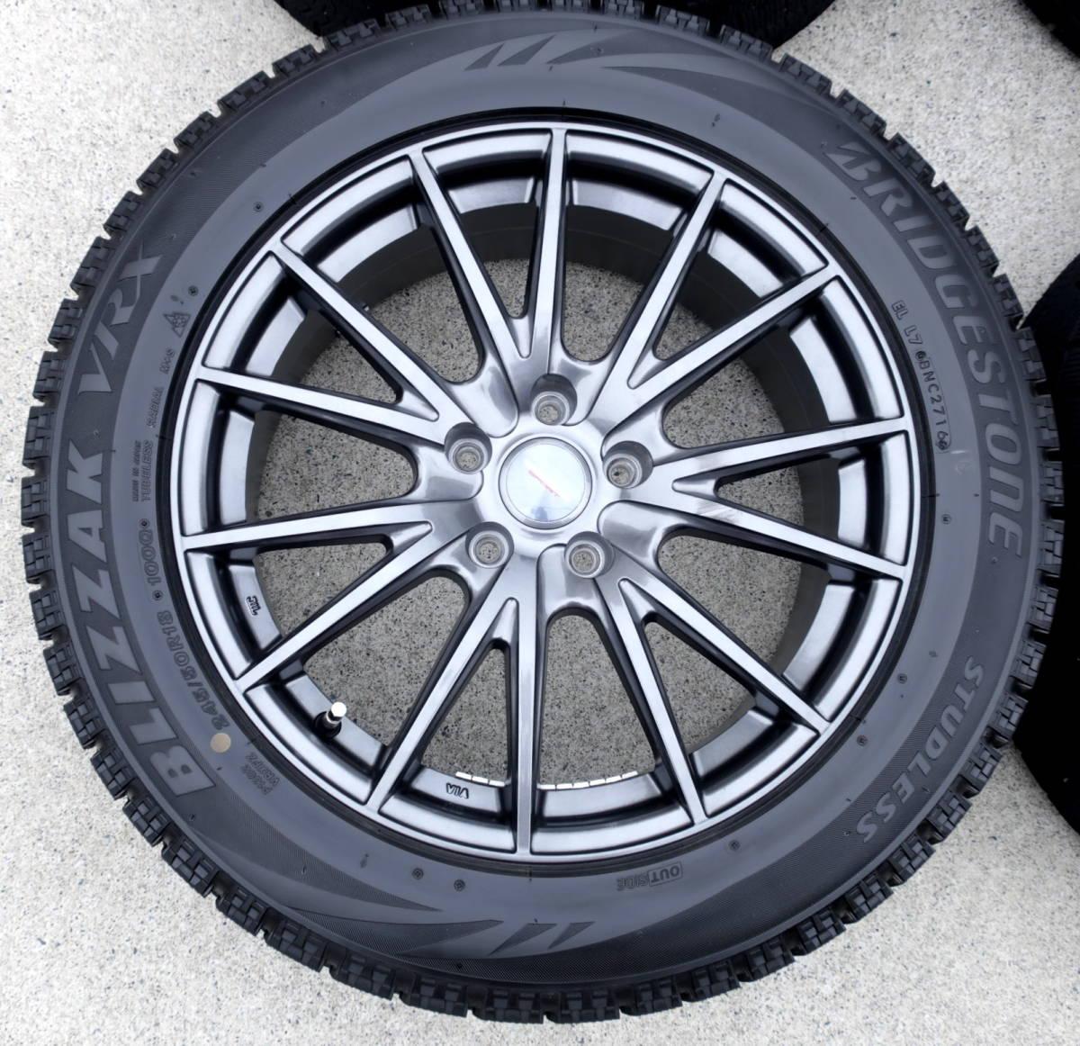 VELVA 軽量ホイル+BLIZZAK VRX 245/50R18 スタッドレス タイヤ 4本 アルファード ヴェルファイア エルグランド フーガ ハリアー CR-V CH-R_画像2