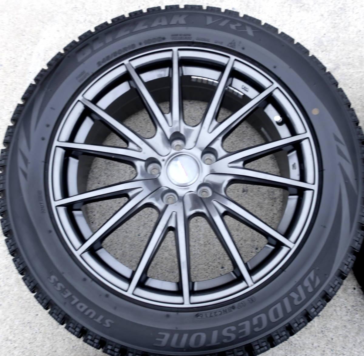 VELVA 軽量ホイル+BLIZZAK VRX 245/50R18 スタッドレス タイヤ 4本 アルファード ヴェルファイア エルグランド フーガ ハリアー CR-V CH-R_画像4
