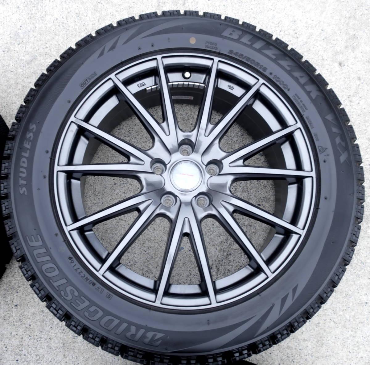 VELVA 軽量ホイル+BLIZZAK VRX 245/50R18 スタッドレス タイヤ 4本 アルファード ヴェルファイア エルグランド フーガ ハリアー CR-V CH-R_画像5