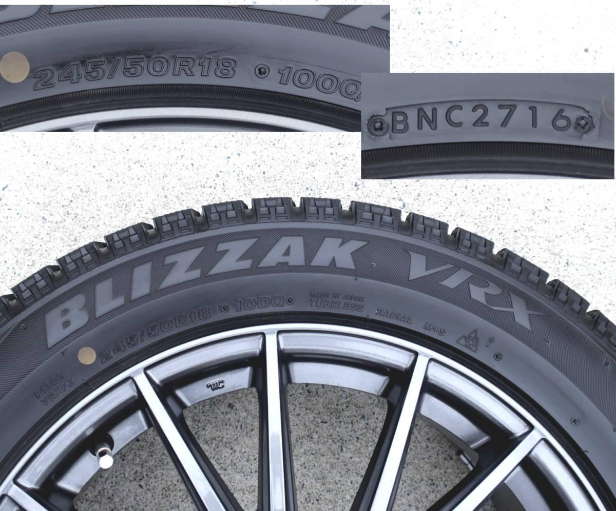 VELVA 軽量ホイル+BLIZZAK VRX 245/50R18 スタッドレス タイヤ 4本 アルファード ヴェルファイア エルグランド フーガ ハリアー CR-V CH-R_画像6