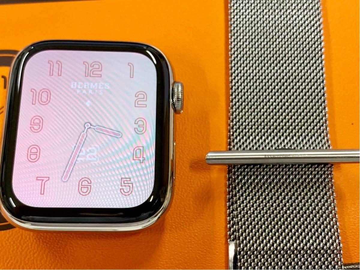 【即決美品】 Apple watch HERMES ミラネーゼループ Series4 44mm 純正 エルメス Cellular ステンレス Applewatch HERMS アップルウォッチ_画像6