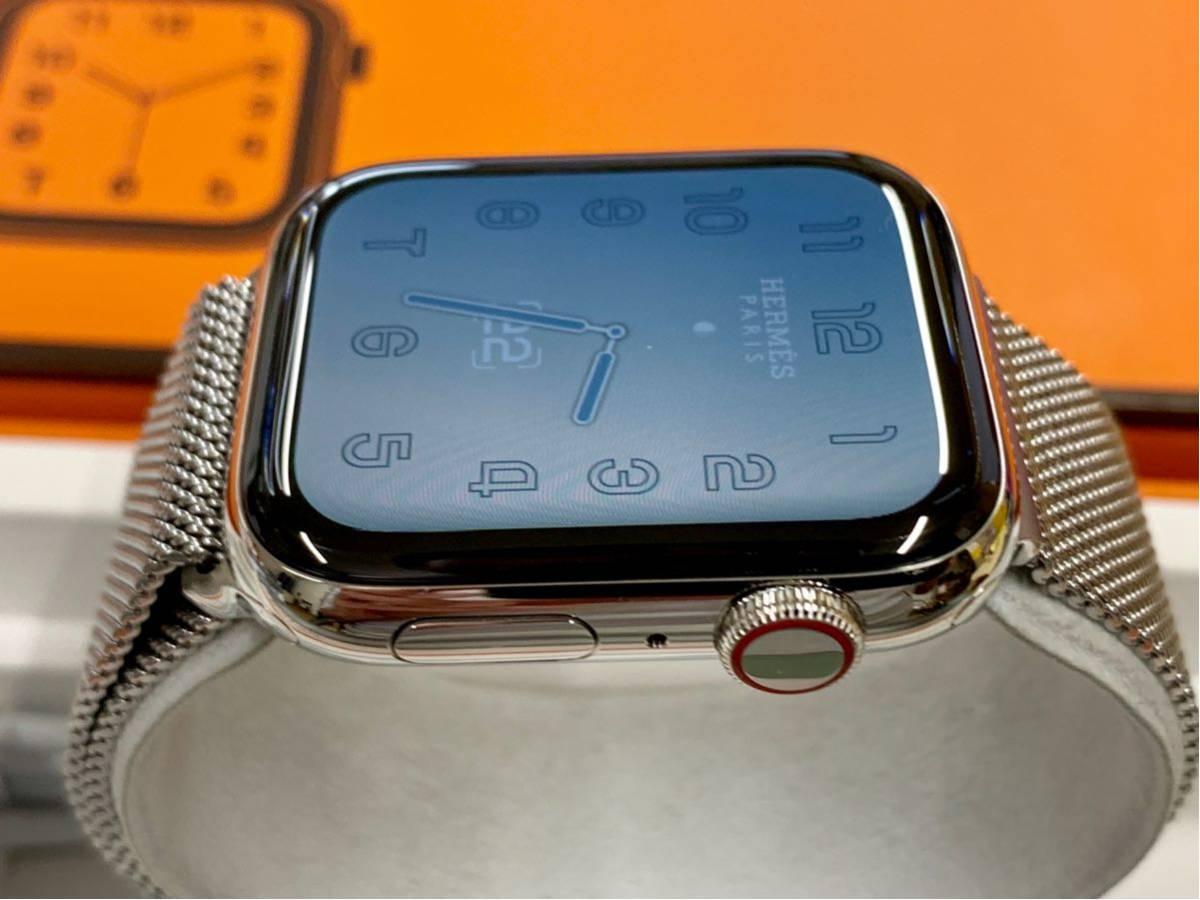 【即決美品】 Apple watch HERMES ミラネーゼループ Series4 44mm 純正 エルメス Cellular ステンレス Applewatch HERMS アップルウォッチ_画像5