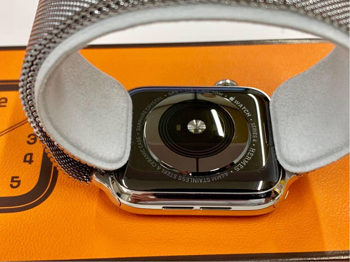 【即決美品】 Apple watch HERMES ミラネーゼループ Series4 44mm 純正 エルメス Cellular ステンレス Applewatch HERMS アップルウォッチ_画像4