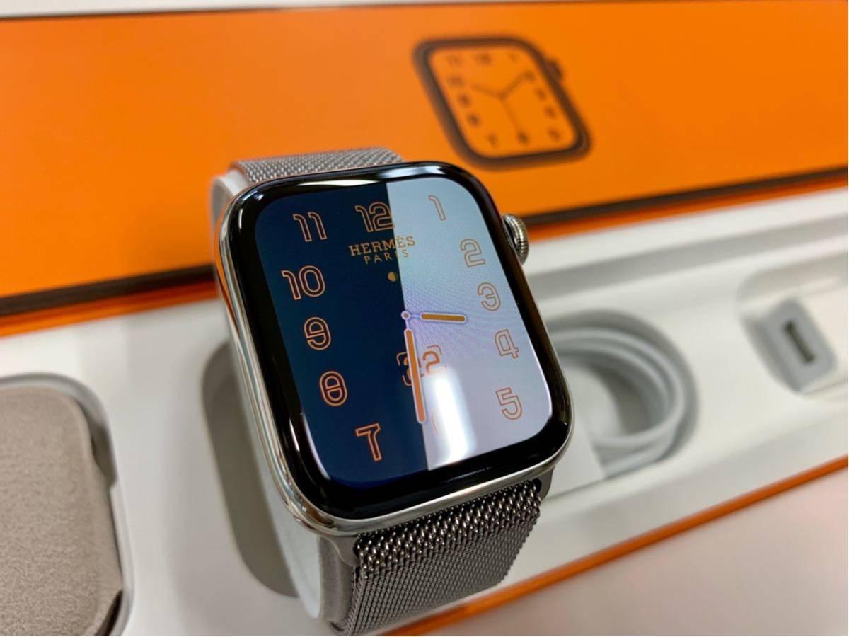【即決美品】 Apple watch HERMES ミラネーゼループ Series4 44mm 純正 エルメス Cellular ステンレス Applewatch HERMS アップルウォッチ_画像2