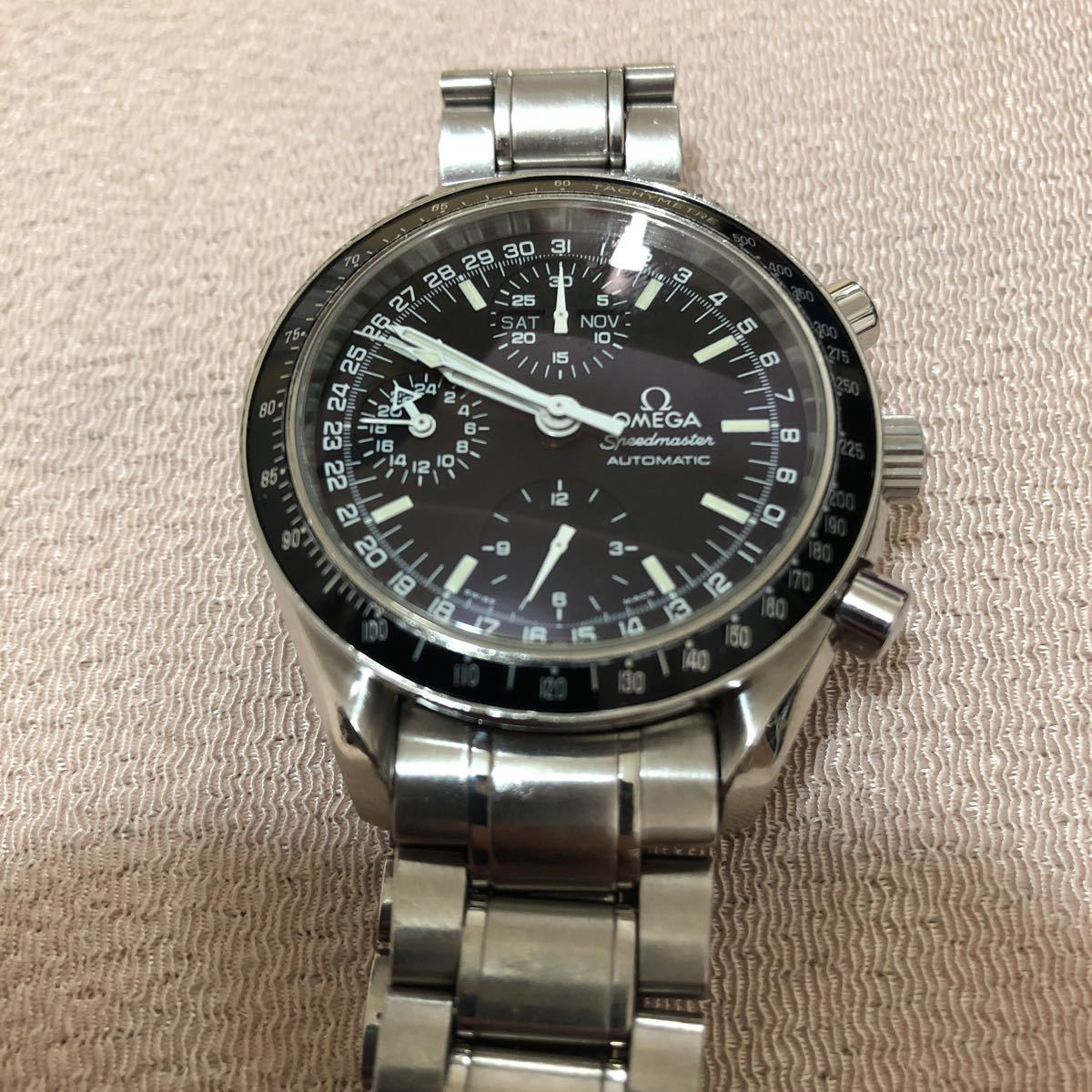 OMEGA オメガ スピードマスター マーク40 コスモス ブラック 自動巻き 腕時計 時計 正規品_画像3