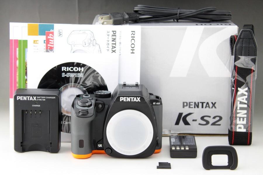 【取説+元箱付き】PENTAX K-S2 ボディ 防塵・防滴 WiFi 人気のブラック&オレンジ【安心1ヶ月間返金保証】