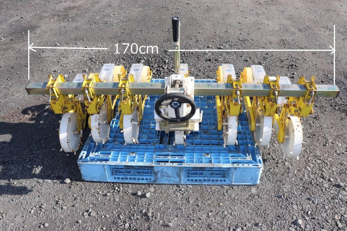 サビ多し アグリテクノ矢崎 7連 ロール式 播種機 TPS-U 大根 人参等 トラクター ロータリー接続 シーダ 種撒き