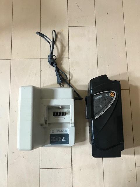 【長押し4点灯】パナソニック 電動アシスト自転車 リチウムバッテリー NKY461B02 5Ah 充電器セット_画像2