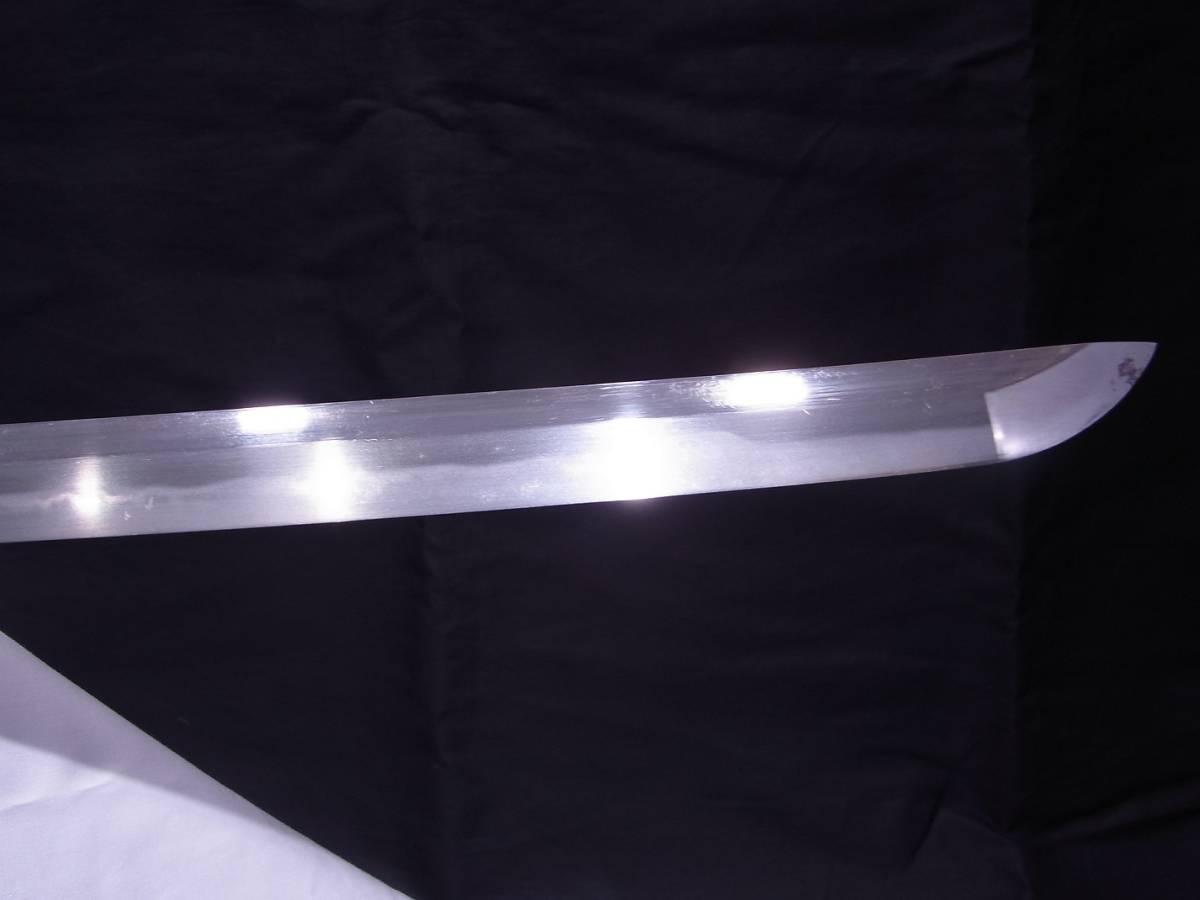 斬鉄剣! 初代『 小林康宏 』刀匠の打った大変希少な『高輪打ち』そして更に希少な『 太刀 』 刃長73cm 反り2.0cm_画像2