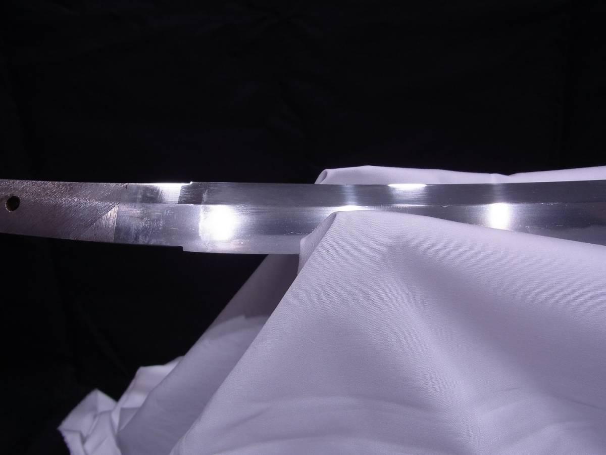 斬鉄剣! 初代『 小林康宏 』刀匠の打った大変希少な『高輪打ち』そして更に希少な『 太刀 』 刃長73cm 反り2.0cm_画像5