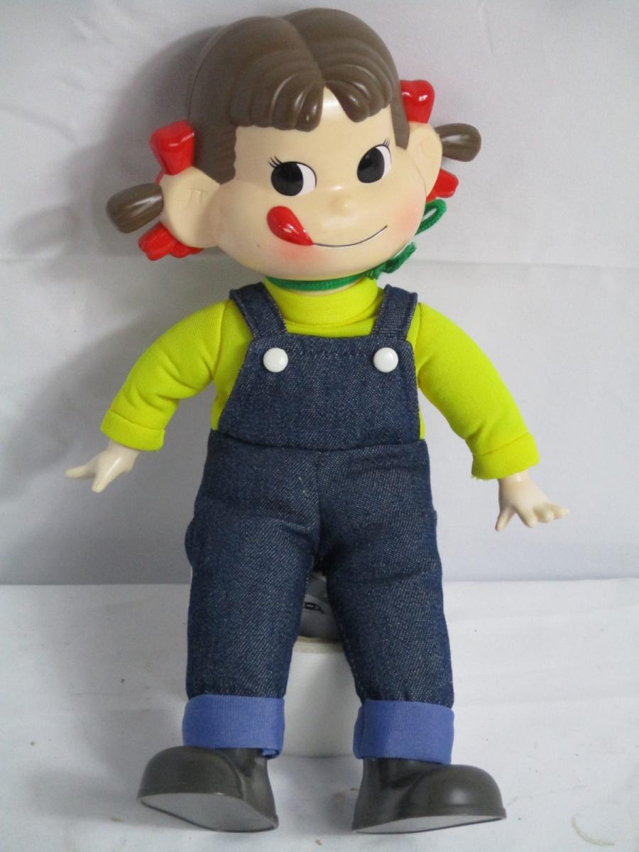 08CPW ペコちゃん ポコちゃん まとめ 不二家 人形 30㎝ 置物 やわらか人形 キーホルダー _画像2