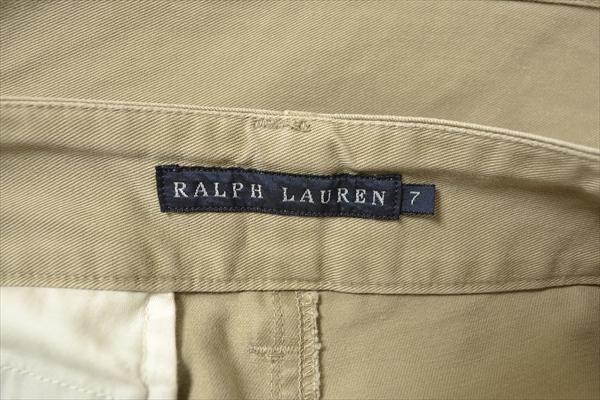 ◇RALPH LAUREN◇size7 work chinopants beige/ラルフローレン ワークパンツ チノパン カーゴパンツ ボトムス ベージュ 日本製 332_画像3
