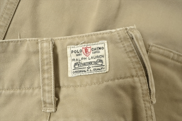 ◇RALPH LAUREN◇size7 work chinopants beige/ラルフローレン ワークパンツ チノパン カーゴパンツ ボトムス ベージュ 日本製 332_画像9