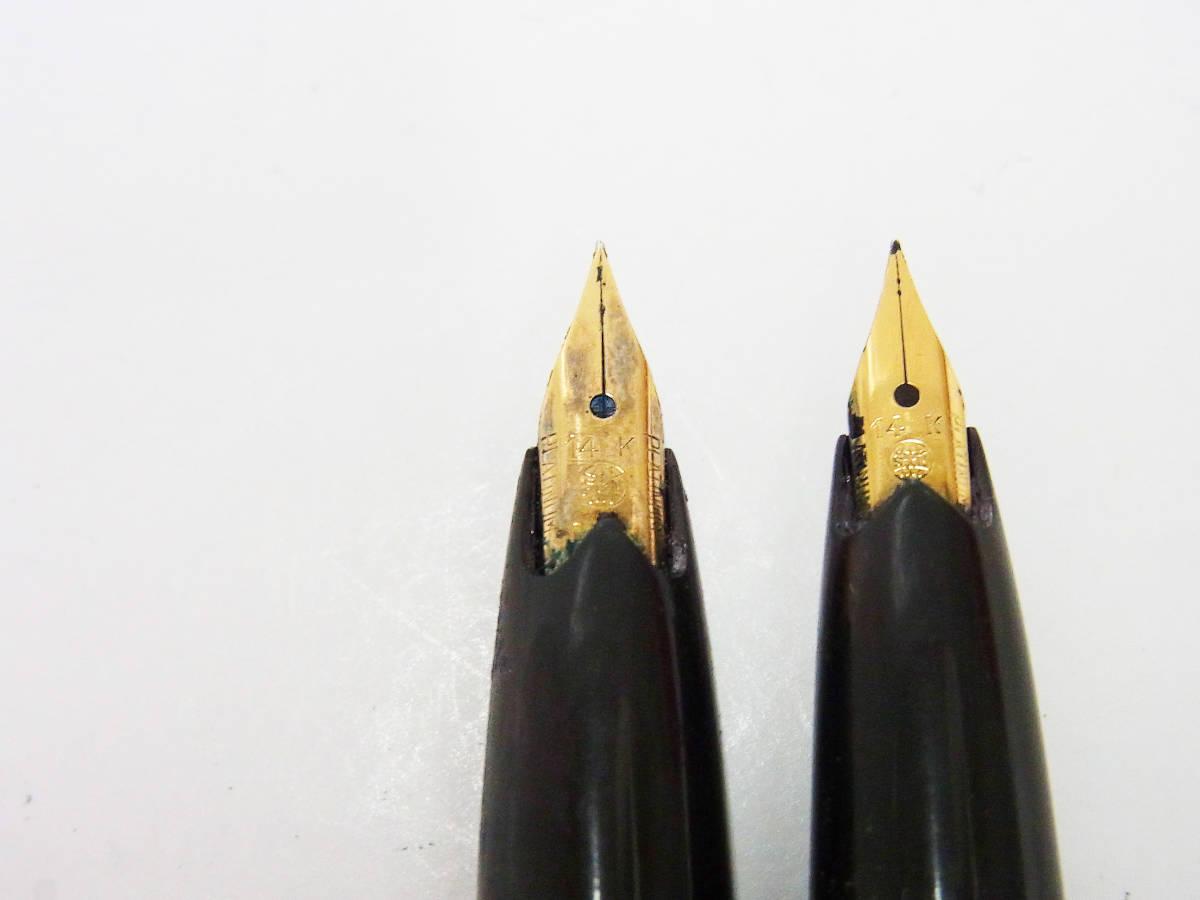 ◇1円~ ビンテージ PLATINUM/プラチナ 万年筆 まとめて10本セット ペン先刻印:14K ジャンク品◇ _画像6