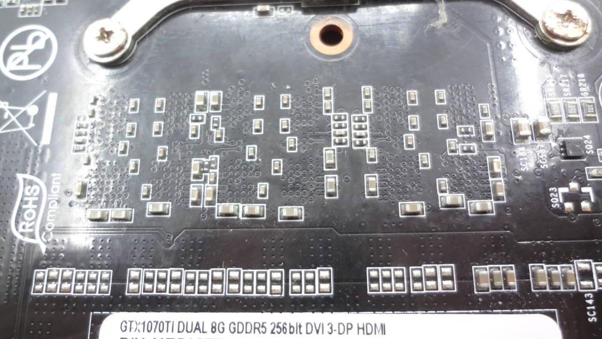 1円~ palit GTX1070TI DUAL 8G GDDR5 256bit DVI/DP x 3/HDMI PCI-E 中古動作品(KD31)_画像3
