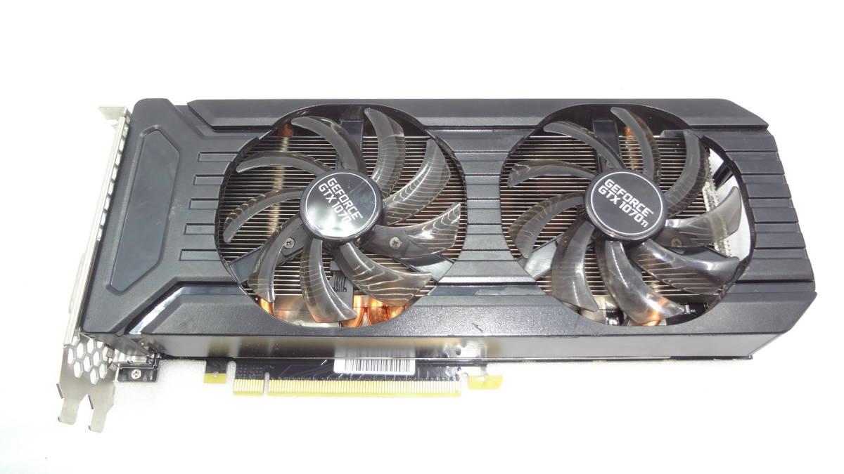 1円~ palit GTX1070TI DUAL 8G GDDR5 256bit DVI/DP x 3/HDMI PCI-E 中古動作品(KD31)