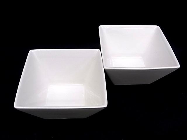 e1812 陶磁器 角鉢 深鉢 盛鉢 小鉢 器 2客 USED_画像1