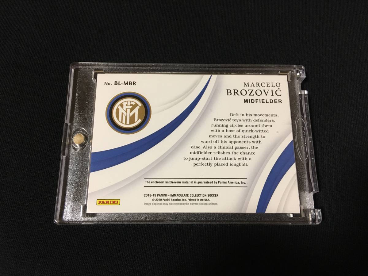 2018-19 Panini Immaculate Soccer 【Marcelo Brozovic マルセロ・ブロゾヴィッチ】 Nike Logo Patch 1/1 1of1 インテル クロアチア_画像2