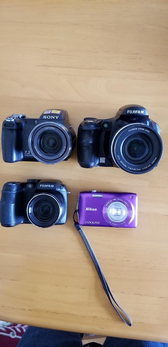 デジタルカメラ4台、撮影OK、ジャンク扱い