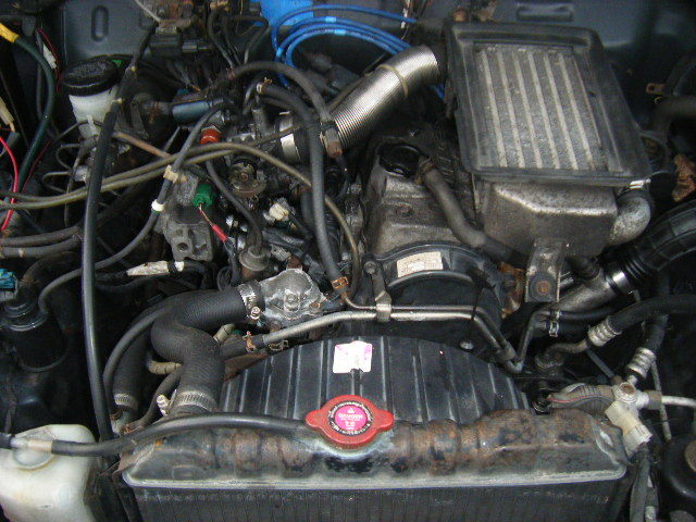 ジムニー ワイルドウインド フロア5MT車 エアコン/パワステ V-JA11V 車検 令和3年3月 修理又はカスタムベースどうぞ!_画像9