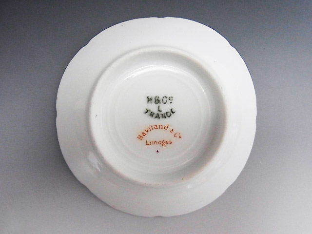 リモージュ窯 蔓草 アラベスク文様 豆皿 ◆ 仏蘭西 アビランド_画像3