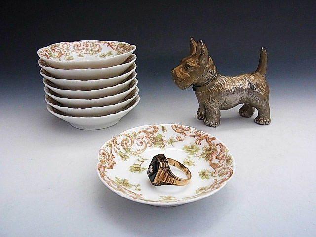 リモージュ窯 蔓草 アラベスク文様 豆皿 ◆ 仏蘭西 アビランド_画像6