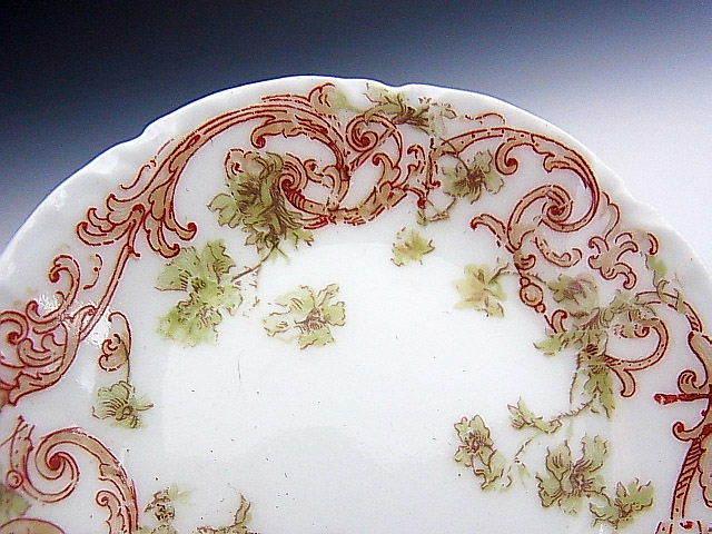 リモージュ窯 蔓草 アラベスク文様 豆皿 ◆ 仏蘭西 アビランド_画像4