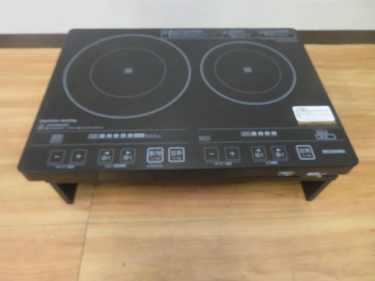 NT082135 アイリスオーヤマ IHクッキングヒーター EIH1470V-B 通電確認済み 中古品