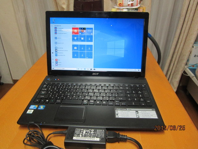 Acer Aspire 5742-F52D/K Core i5 480M 2.67Ghz Win10 320G 4G WEBカメラ付 無線Lan Sマルチ 15.6ワイド