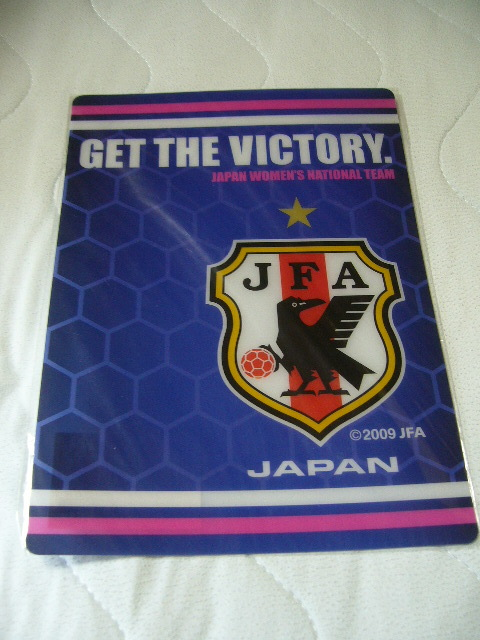 JFA なでしこジャパン JAPAN WOMEN'S NATIONAL TEAM 下敷き ジャパン サッカー 女子サッカー オフィシャルグッズ 公認 新品_画像1