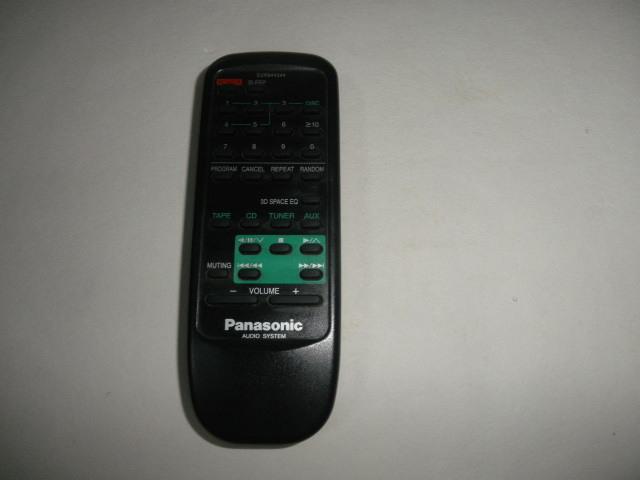 Panasonic AUDIO SYSTEM  リモコン 動作確認済 (単三電池付属無し)中古品_画像1