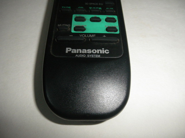 Panasonic AUDIO SYSTEM  リモコン 動作確認済 (単三電池付属無し)中古品_画像4