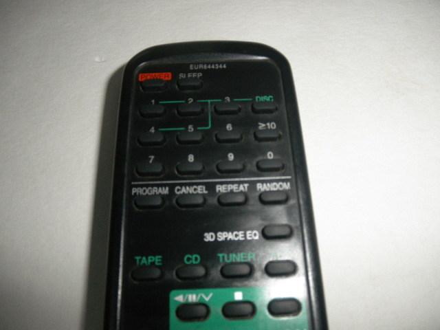 Panasonic AUDIO SYSTEM  リモコン 動作確認済 (単三電池付属無し)中古品_画像5