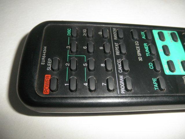 Panasonic AUDIO SYSTEM  リモコン 動作確認済 (単三電池付属無し)中古品_画像7