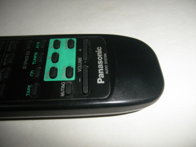 Panasonic AUDIO SYSTEM  リモコン 動作確認済 (単三電池付属無し)中古品_画像8