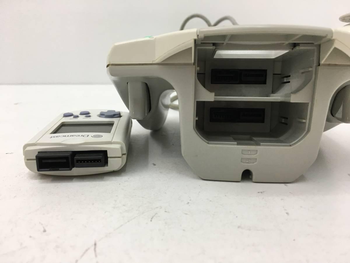 ひ【F-1】  セガ ドリームキャスト SEGA DreamCast HKT-3000 ビジュアルメモリ ドリームパスポート3付き 動作確認済_画像6
