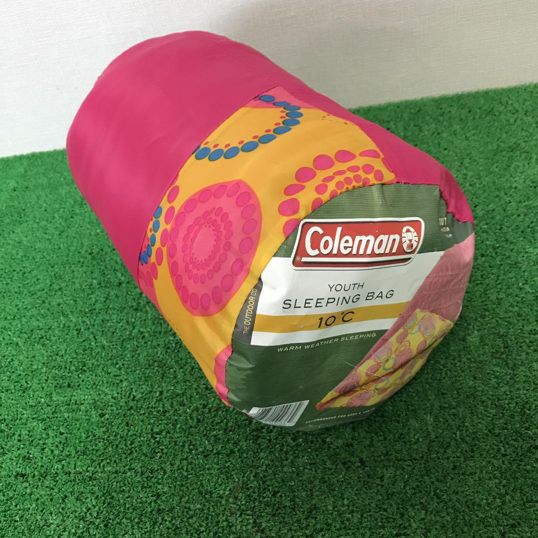 【中古品】キレイ目 コールマン Coleman ユーススリーピングバッグ キッズ 寝袋 ユース シュラフ 封筒型 キャンプ tmc02017154_画像5