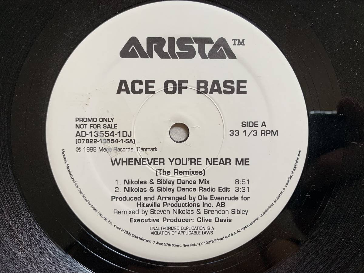 9dL0796◆LP盤レコード◆ACE OF BASE / WHENEVER YOU'RE NEAR ME