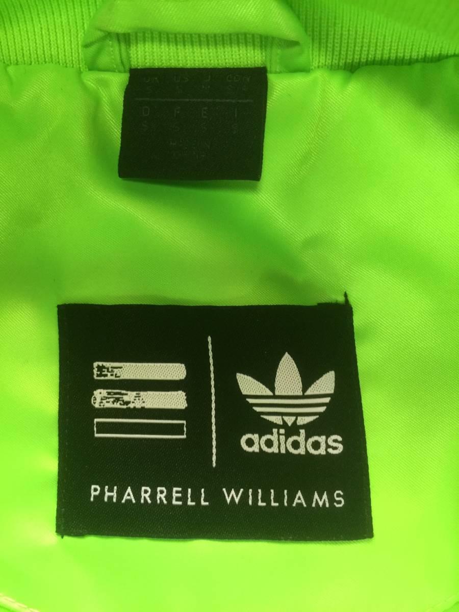 美品☆[adidas×PHARRELL WILLIAMS] 3ストライプ ネオンカラー トラックジャケット M アディダス×ファレル ウィリアムズ_画像4