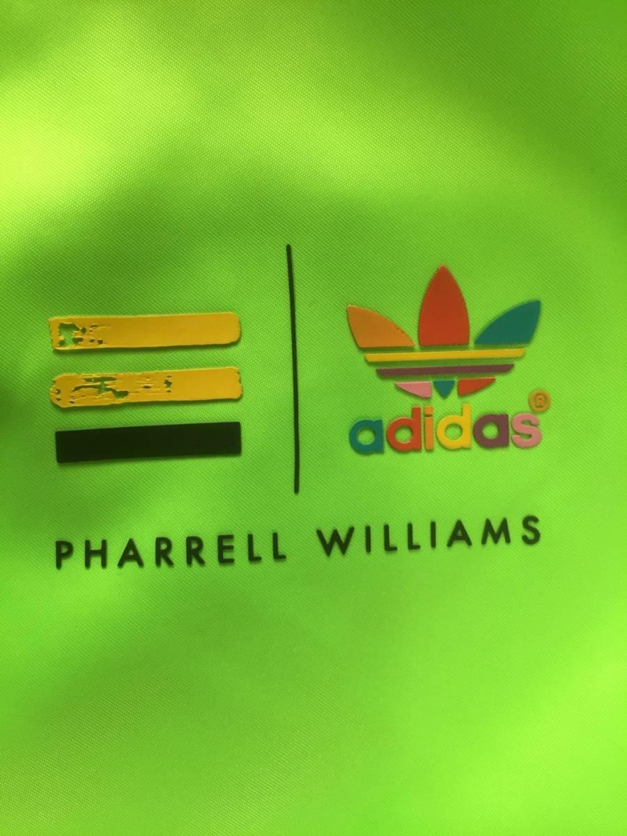 美品☆[adidas×PHARRELL WILLIAMS] 3ストライプ ネオンカラー トラックジャケット M アディダス×ファレル ウィリアムズ_画像5