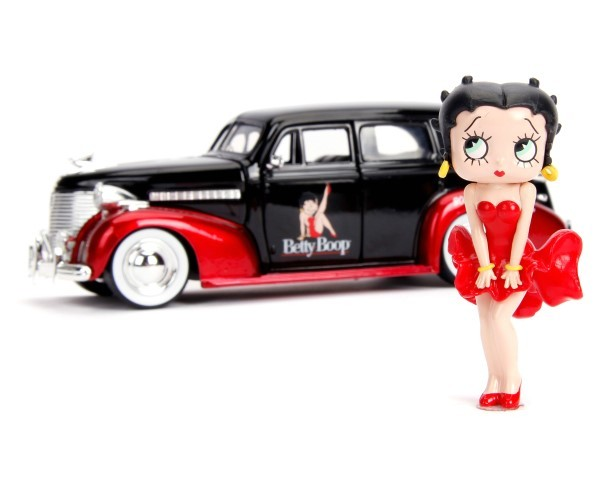 1:24 Hollywood Rides 1939 CHEVY MASTER DELUXE W/BETTY BOOP ベティー ダイキャストカー_画像2