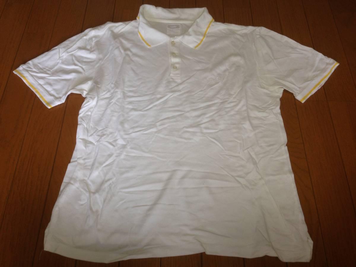 フラグメントデザイン FRAGMENT DESIGN フェノム FENOM リーバイス LEVI'S 半袖ポロシャツ 日本製 L ホワイト 白 イエロー 黄_画像1