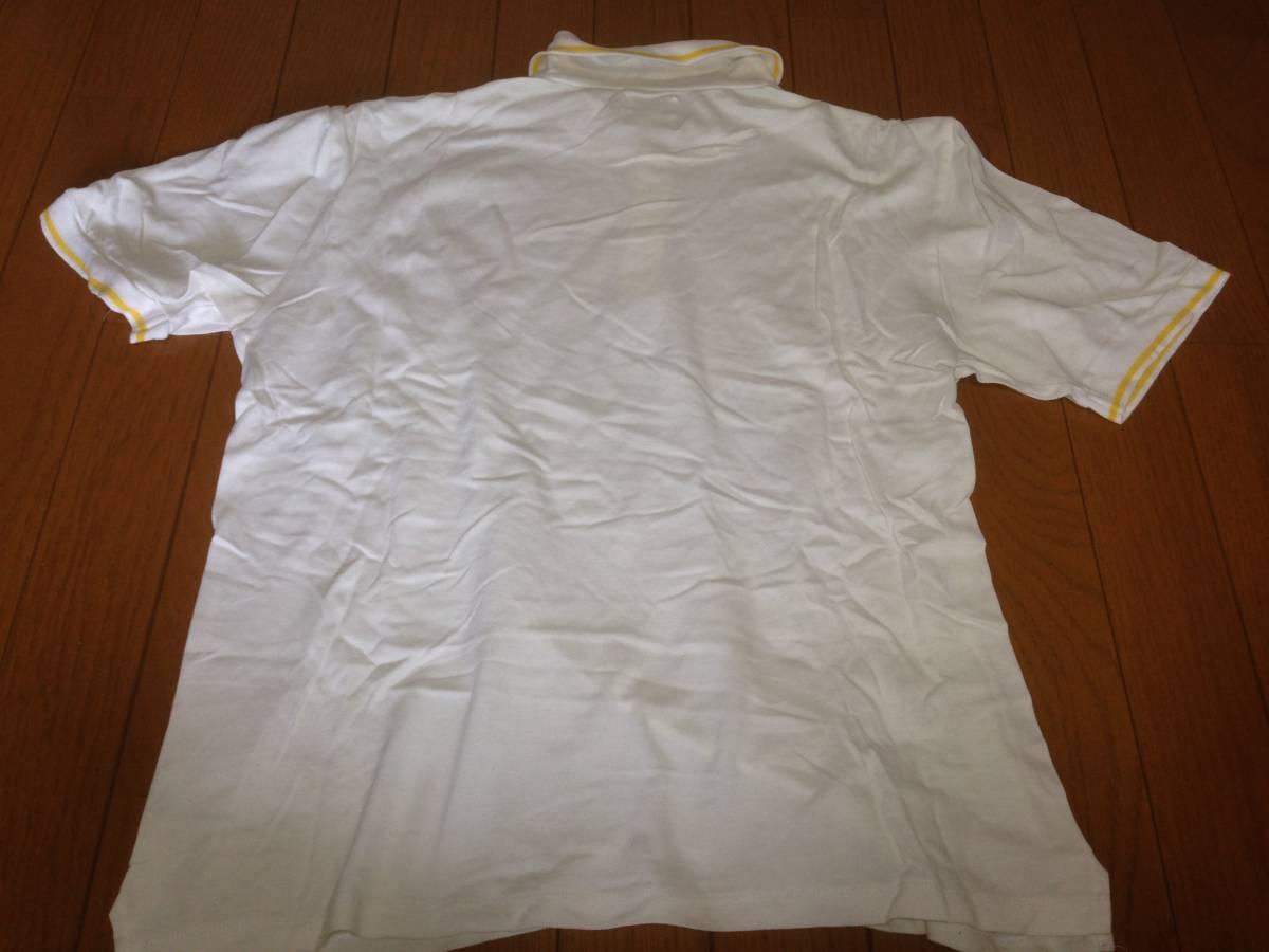 フラグメントデザイン FRAGMENT DESIGN フェノム FENOM リーバイス LEVI'S 半袖ポロシャツ 日本製 L ホワイト 白 イエロー 黄_画像5