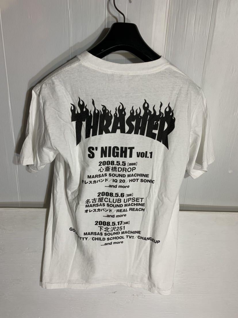 THRASHER スラッシャー × MARSAS SOUND MACHINE マーサスサウンドマシーン 山羊頭 666 半袖 ロックTシャツ バンドTシャツ ツアーT 白 S_画像3