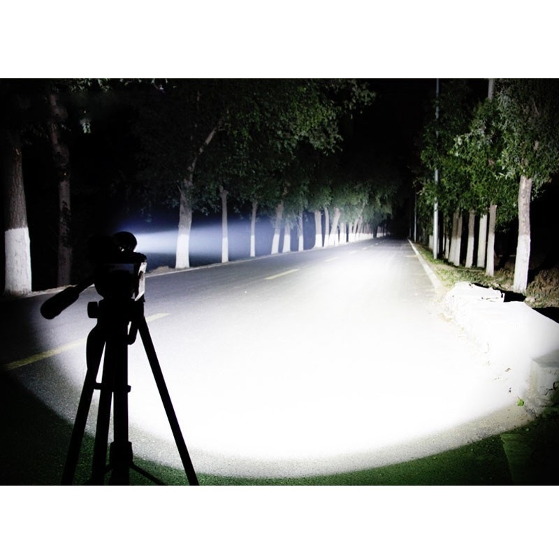★ 最新デザイン 超強力 46時間点灯 LED ハンディライト セット ズーム機能 CREE以上 懐中電灯 防災 18650 充電池 釣り 登山 自転車 01_画像5