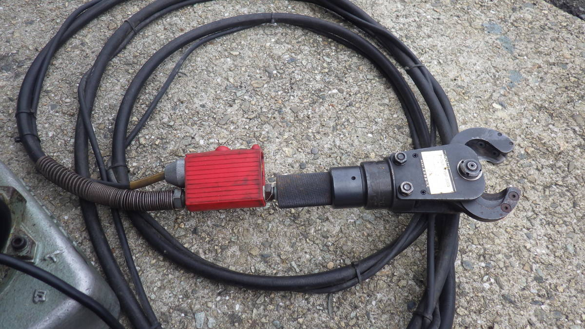 カクタス 油圧ポンプ AEP-20 泉 ケーブルカッター YSP-30 西田 DAIA 電気 設備_画像10