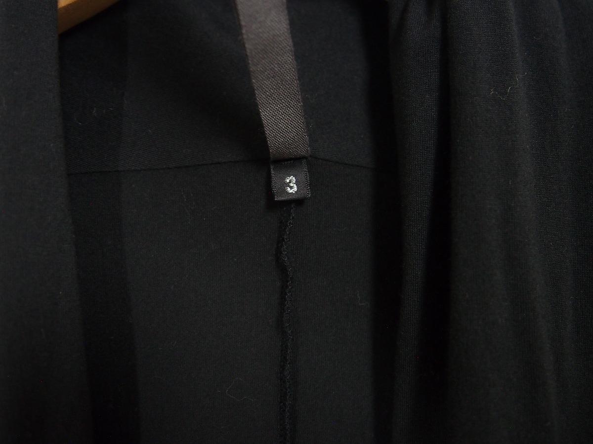 16AW KAZUYUKI KUMAGAI ATTACHMENT カズユキ クマガイ 80/2 度詰天竺 ストール ジャケット KJ62-012 3 黒 726J_画像8