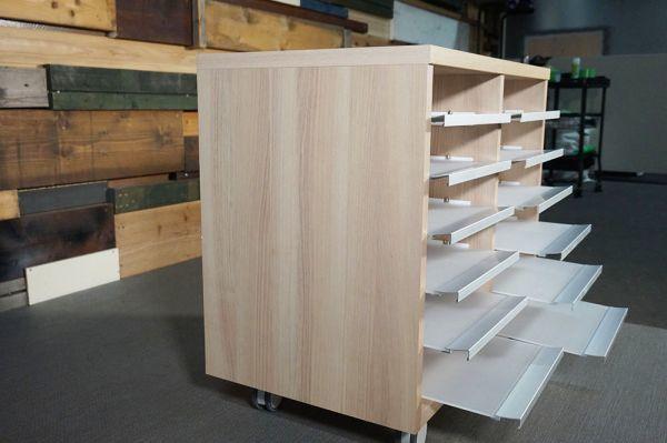 HY-348 展示品 スライド式 収納棚 6段 キャスター  W750 H700 D450_画像3