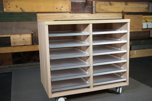HY-348 展示品 スライド式 収納棚 6段 キャスター  W750 H700 D450_画像1